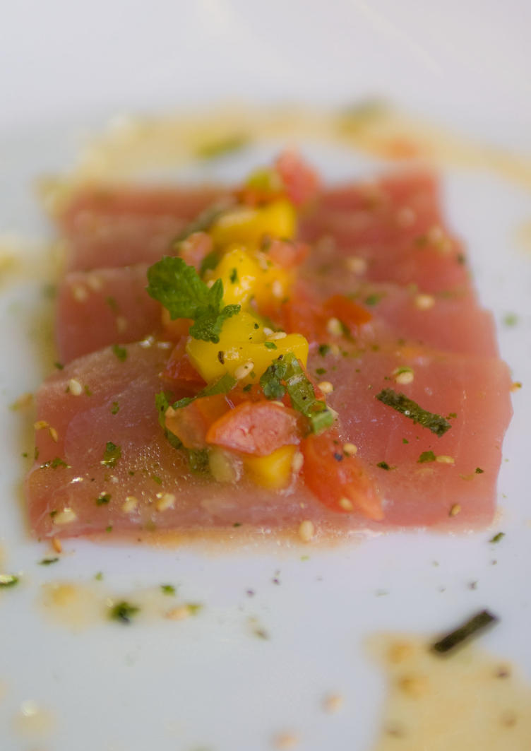 Yellowfin with Mango Salsa by ThomasVo