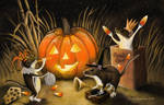 Mouse Party for Halloween by ChuckRondeau