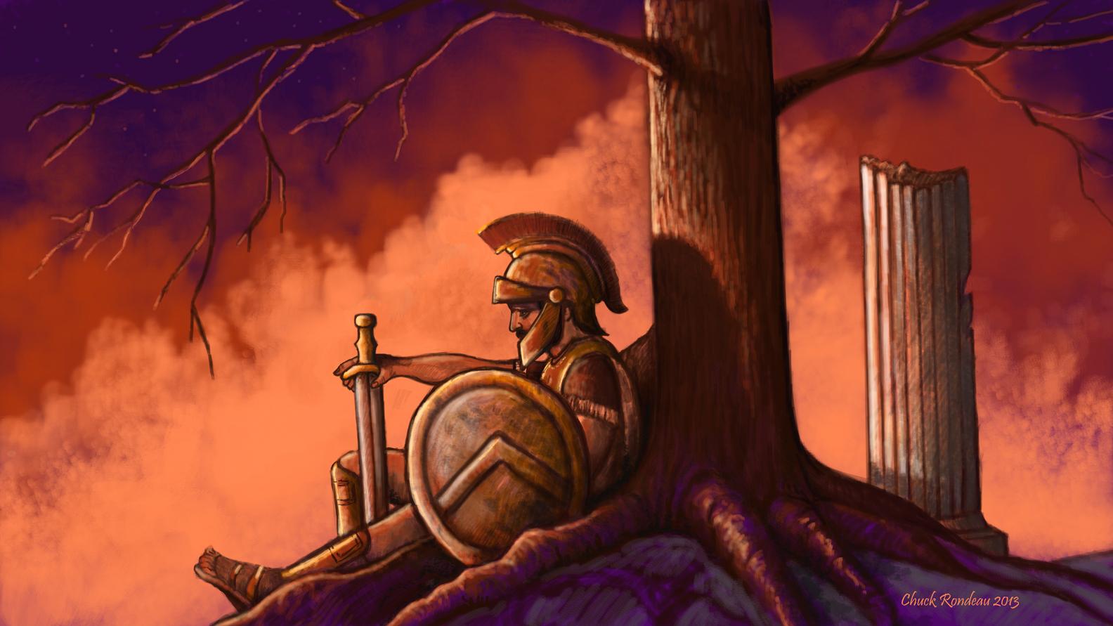 Battle Weary Spartan by ChuckRondeau