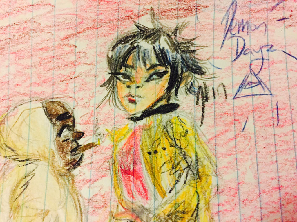 p2 rough gorillaz sketches  by jenisnotcool