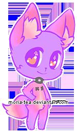 [closed] Auction #10 purple fox anthro by moria-tea