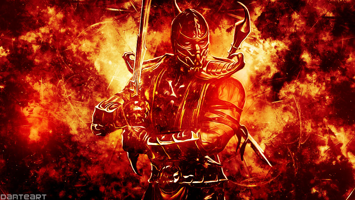 mortal kombat scorpion wallpaperdanteartwallpapers on deviantart