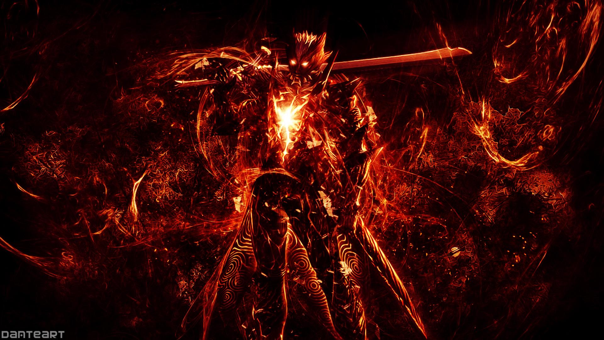 Devil May Cry Dante Wallpaper: Devil May Cry Dante Demon Form Wallpaper