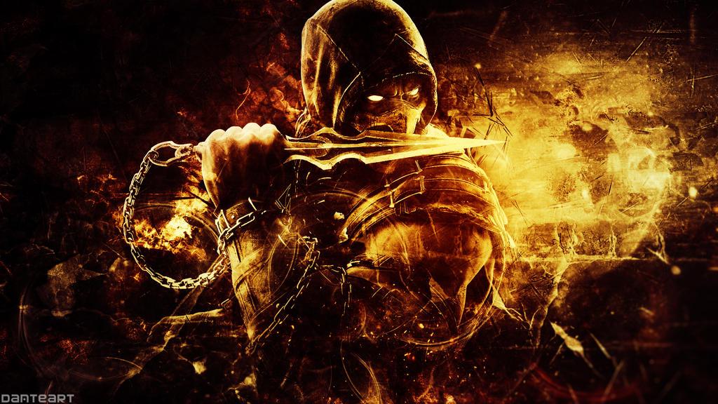 ultra hd mortal kombat x scorpion wallpaper