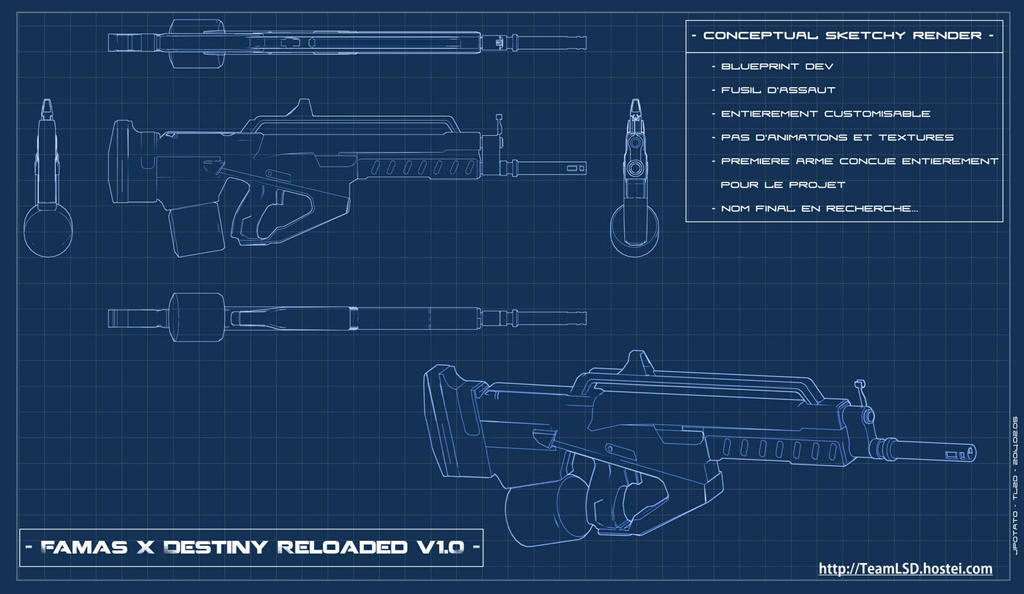 Udk Project Famas X Destiny Blueprint Render By