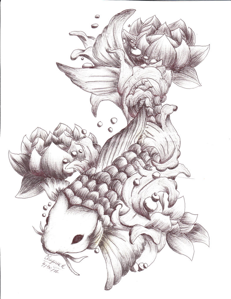 Koi fish by greekcraziness on deviantart for Koi fish drawings