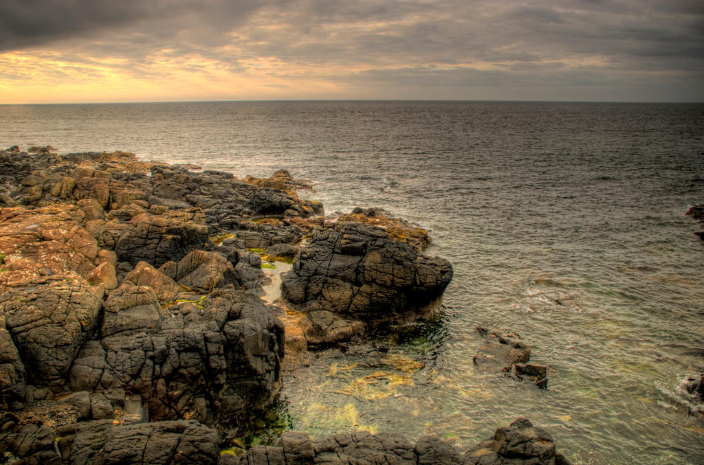 Northern Ireland Coast by adischordantrhyme