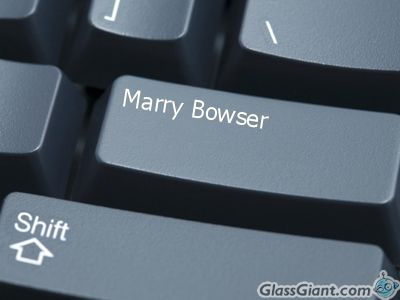 Marry Bowser Button by xXThe-Ice-ReaperXx