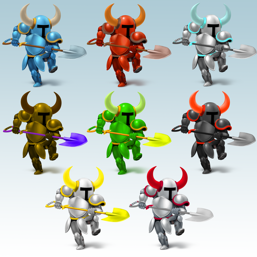 Shovel Knight Color Swaps By That One Leo