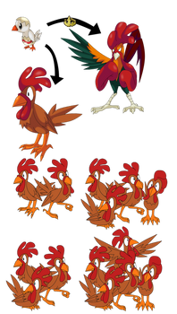 Shiny Chickling Bruister Chigroup