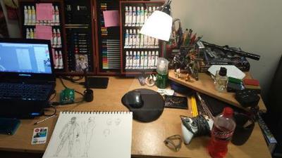 My beautiful work station by PeterHOOPAH