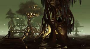 Swamp Village by jjpeabody