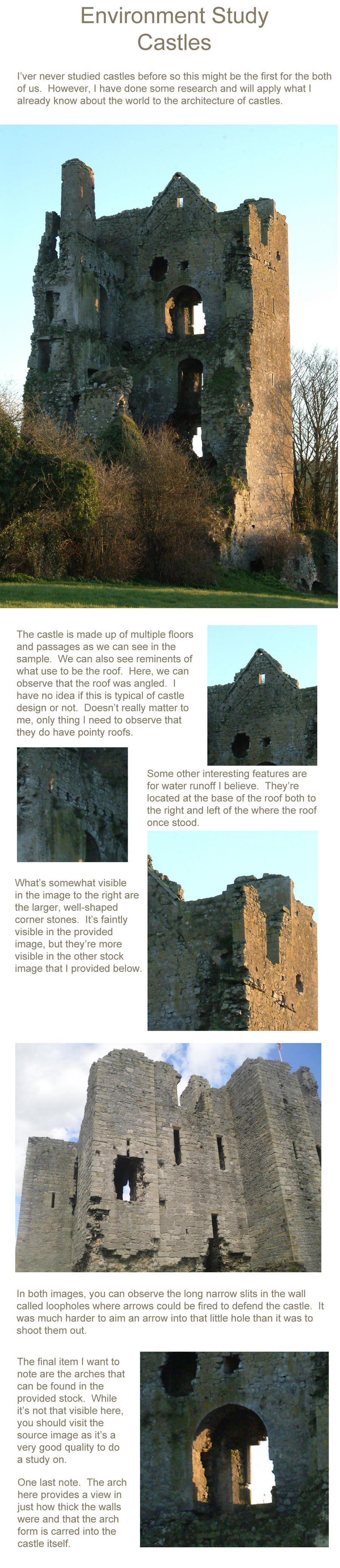 Environment Study: Castles by jjpeabody