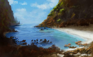 Tropical Cove Speed Paint by jjpeabody