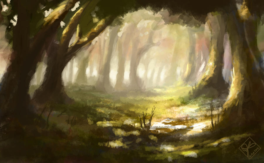 Forest Light 2 by jjpeabody