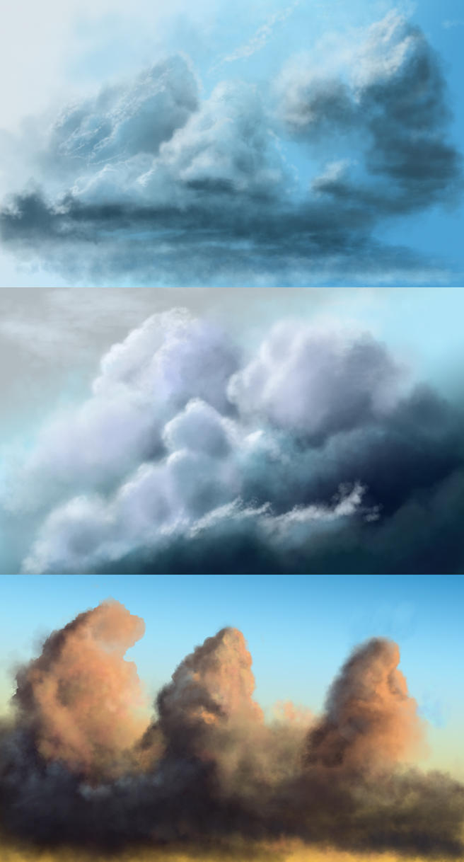 Hand painted clouds by jjpeabody