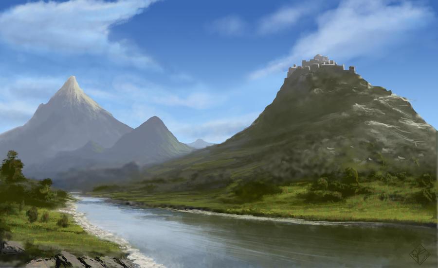Fantasy landscape #5 by jjpeabody