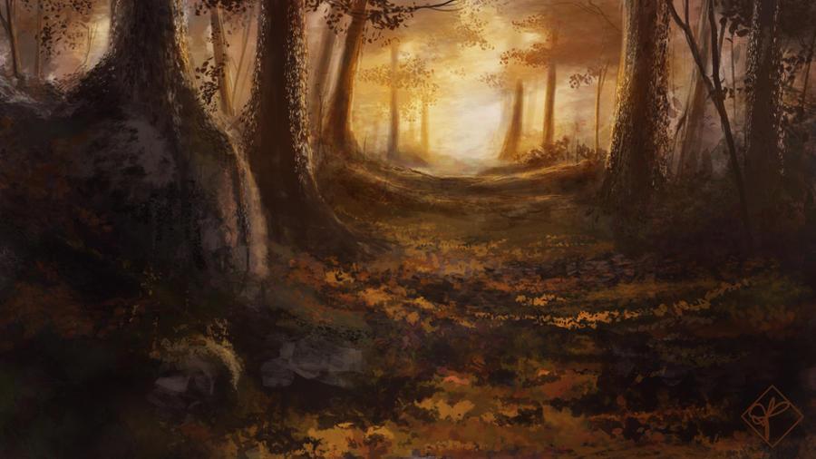 Autumn Morning Glory by jjpeabody