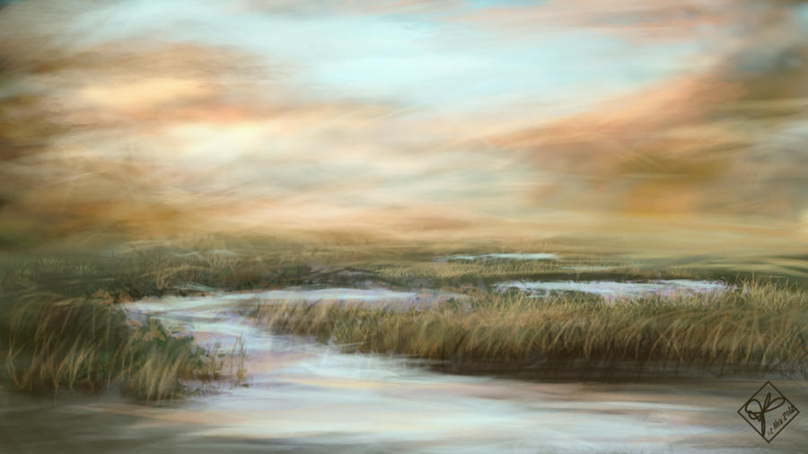 Marsh in the Morning by jjpeabody