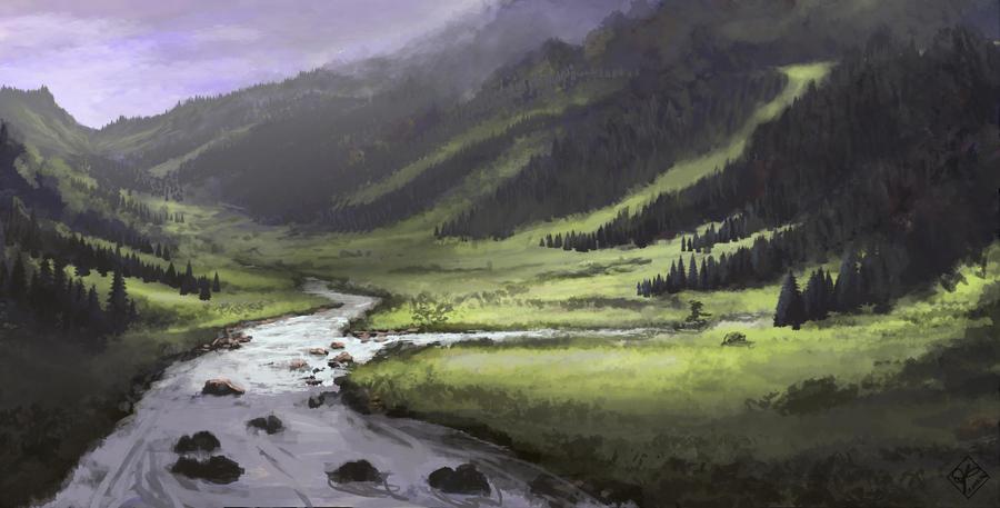 Country Landscape by jjpeabody
