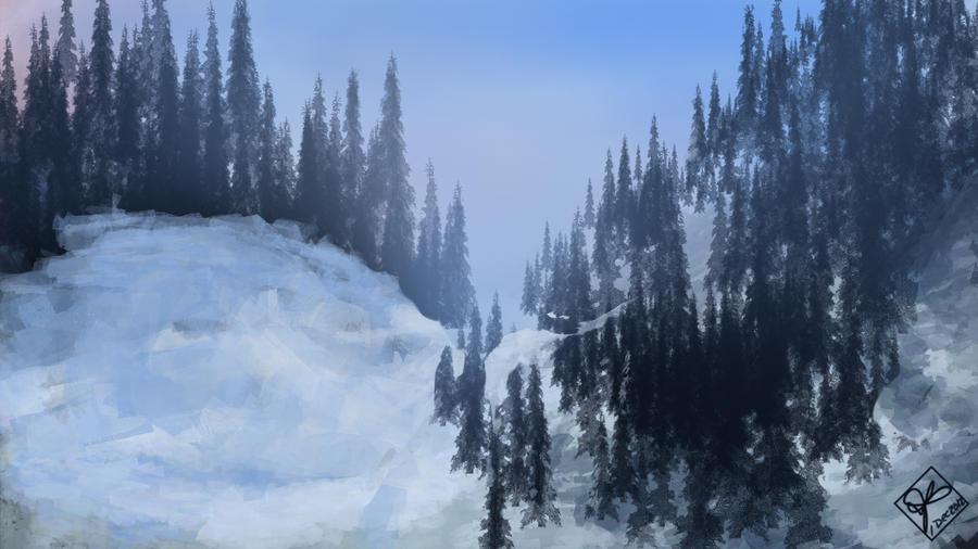 Winter Hills by jjpeabody