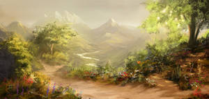 Majestic Fantasy Landscape