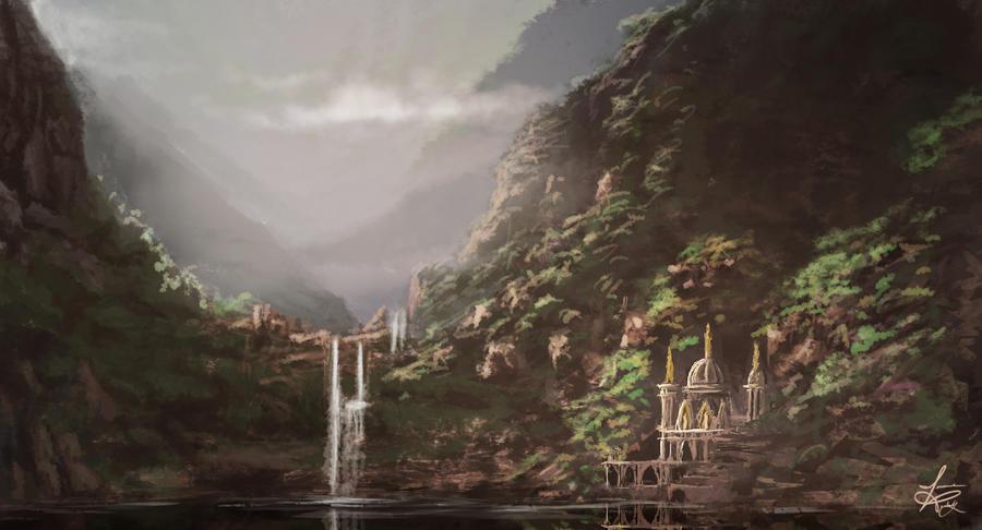 Mountain Falls by jjpeabody