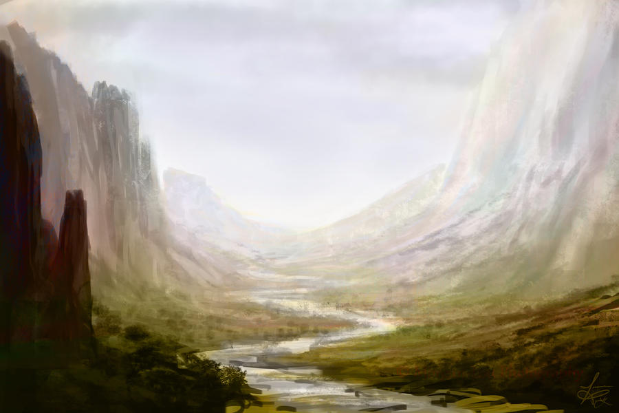 Mountain Landscape (Rough Sketch) by jjpeabody