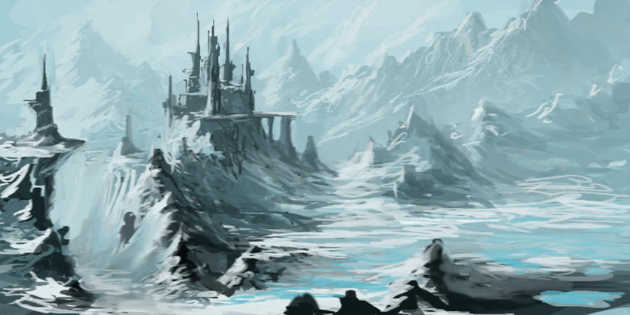 Mountain Fortress with Glacial Lake by jjpeabody on DeviantArt