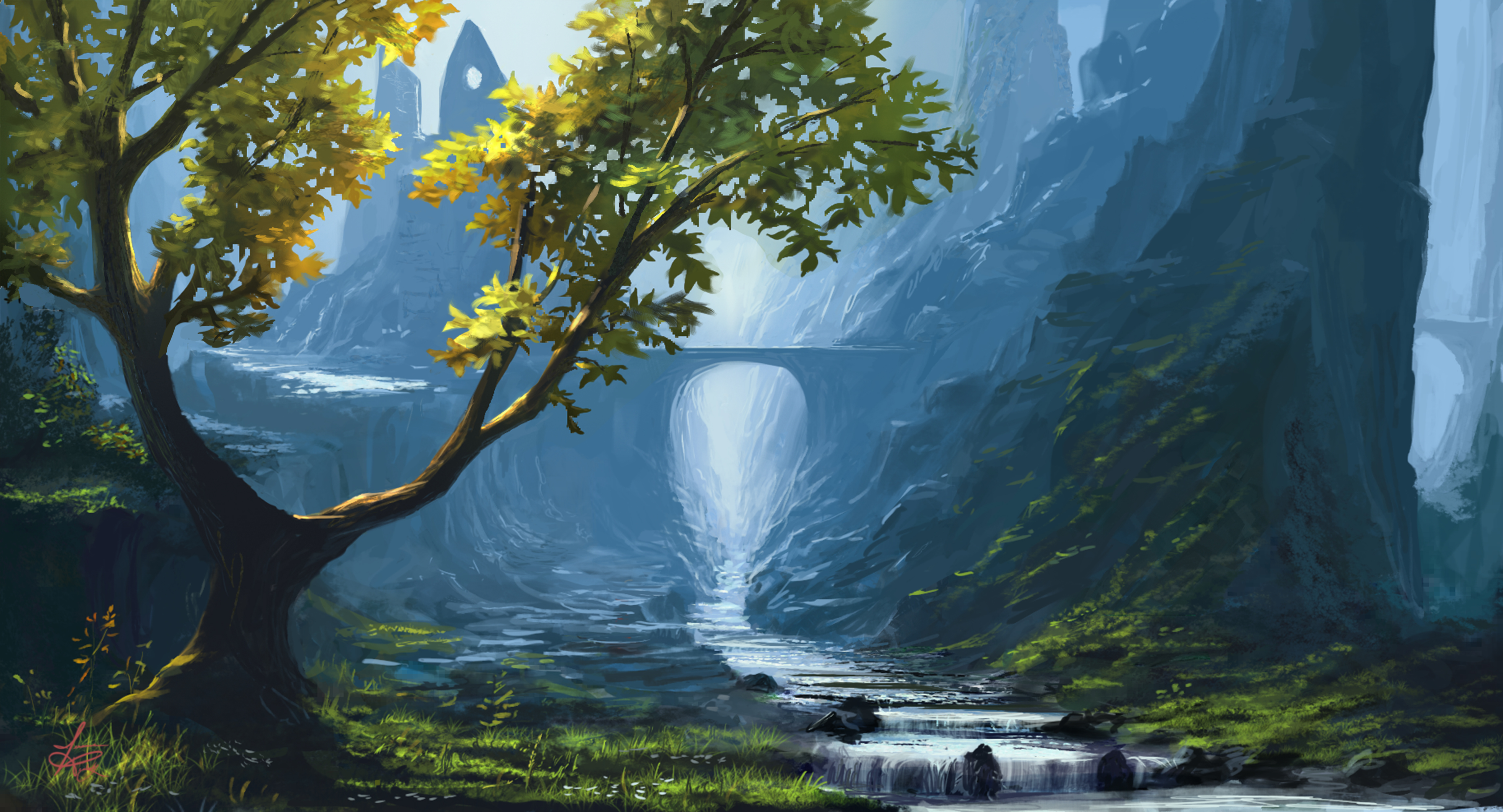 Painting Art Wallpapers Wallpaper Wednesday