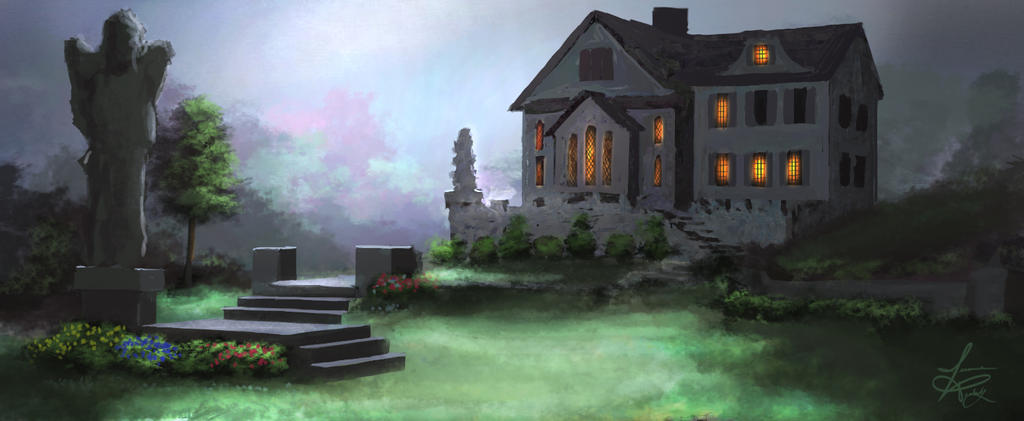 Mansion in the evening by jjpeabody