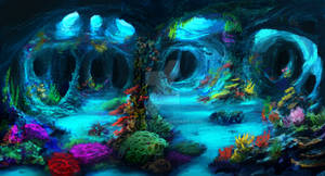 Underwater Caves (Commission)