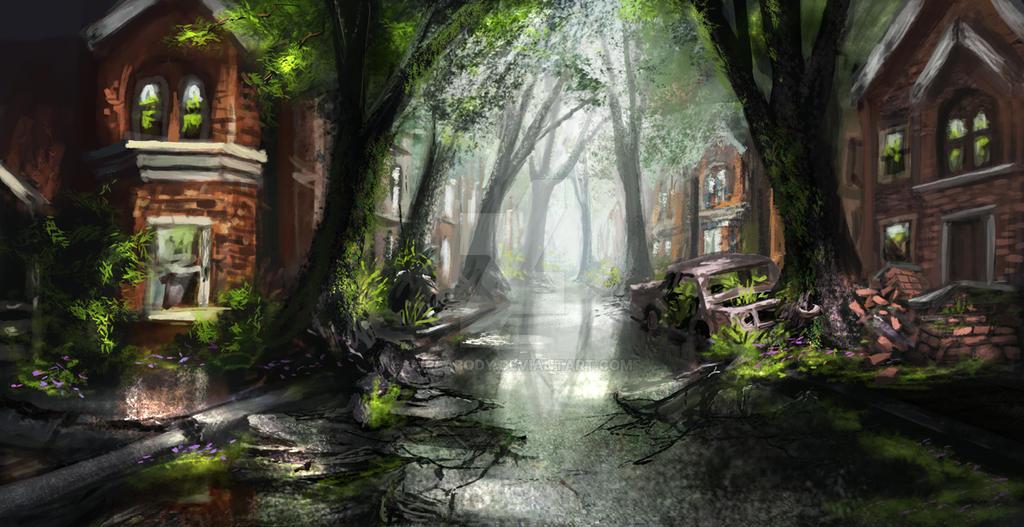 Overgrown City Commission By Jjpeabody On Deviantart