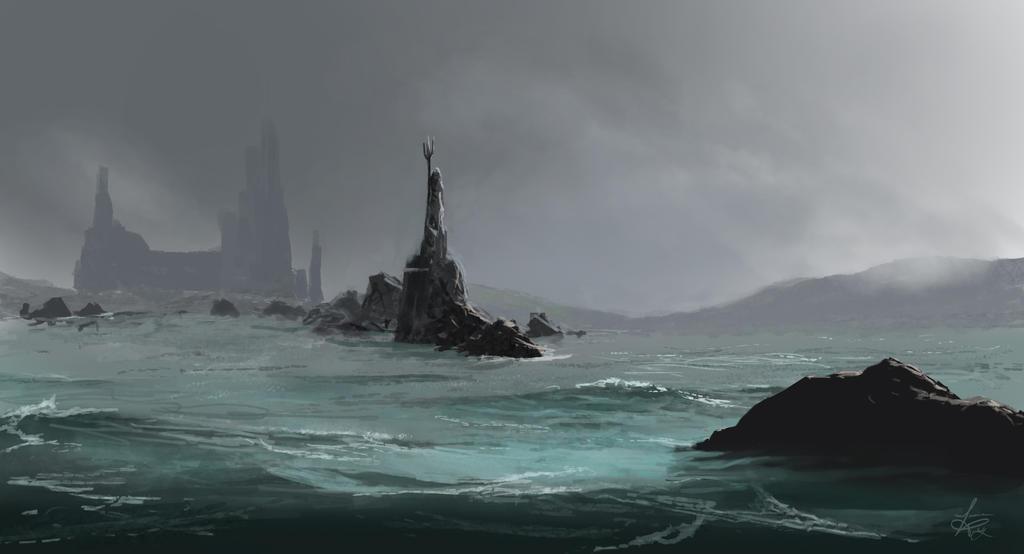 Rainy Harbor by jjpeabody
