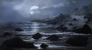 Moonrise over cove