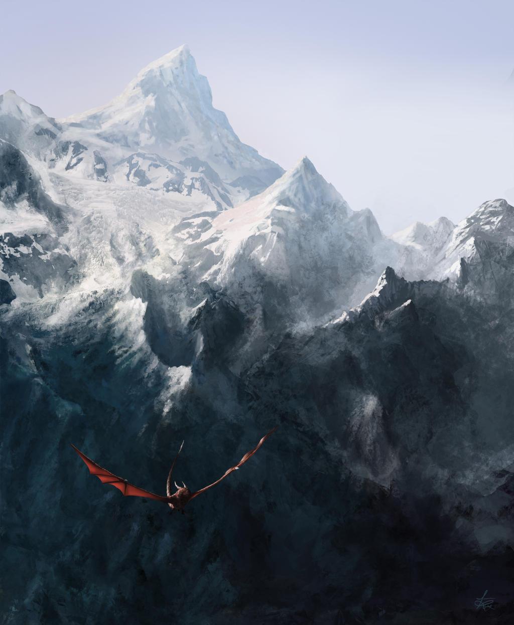 Epic Mountain Dragon by jjpeabody