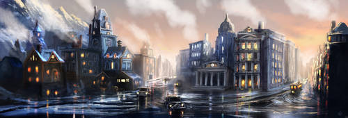 Steampunk City 2 (Commission)