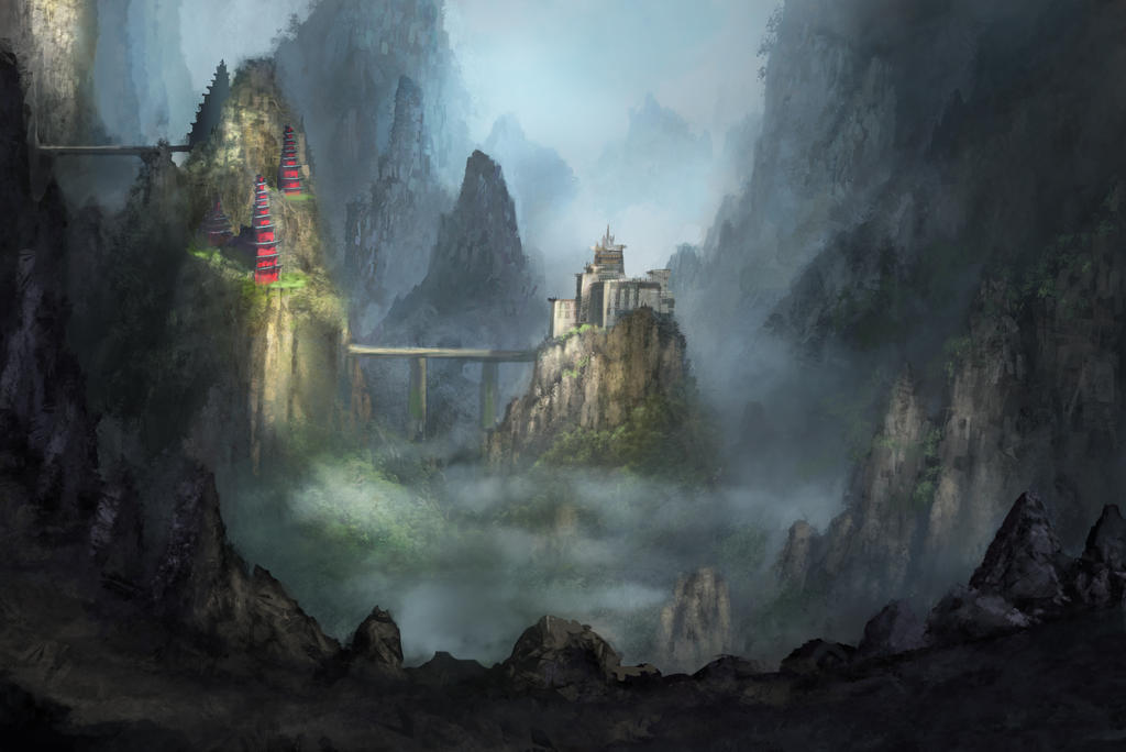 Fantasy Fortress Chinese fantasy fortress by