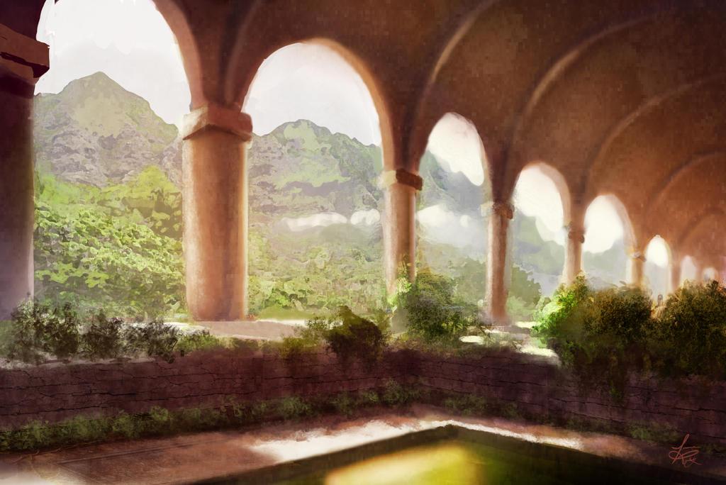 Castle Garden WIP by jjpeabody