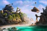 Steampunk Pirate Island