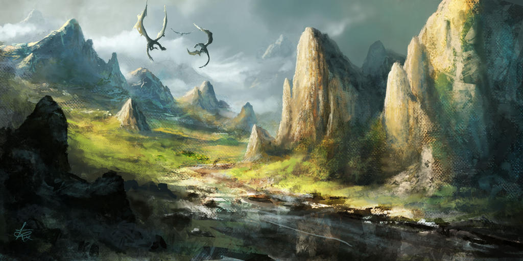 Epic Dragon Battle by jjpeabody