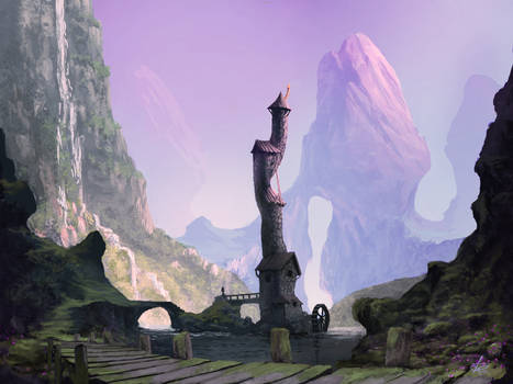 Fantasy Landscape by jjpeabody