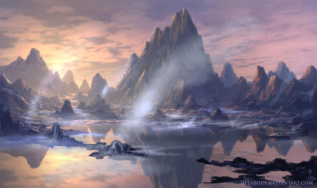 Alien Landscape 20140425 by jjpeabody on DeviantArt