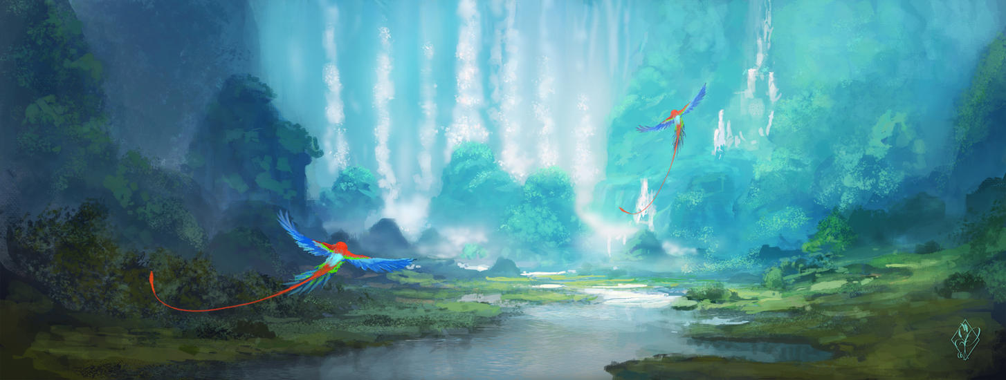 Parrot Paradise by jjpeabody