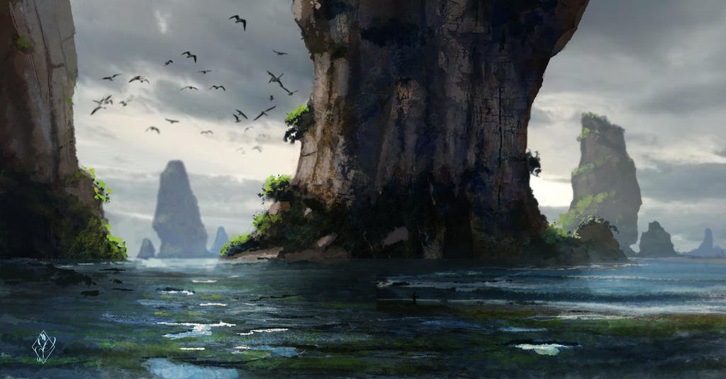 Fantasy Ocean Landscape by jjpeabody on DeviantArt