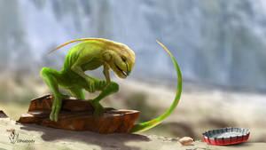 Lizard Creature by jjpeabody