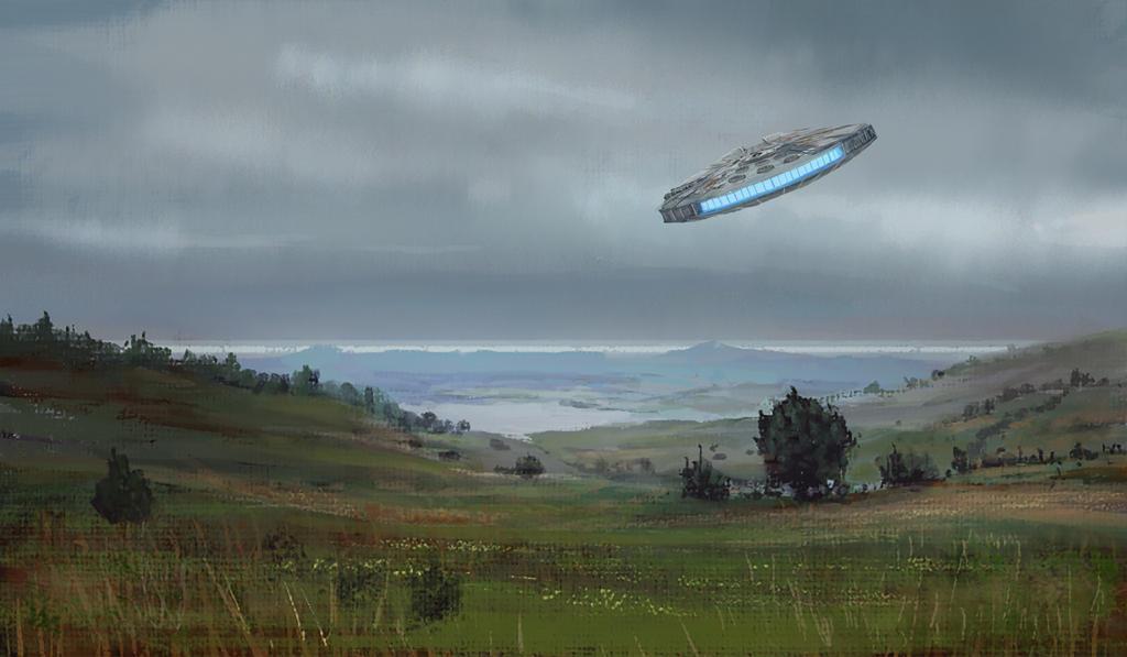 Star Wars - Millennium Falcon - Fan Art by jjpeabody