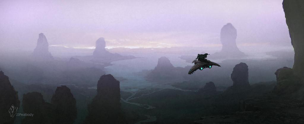 Sci-Fi Landscape by jjpeabody