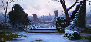 Snow Covered Ruins