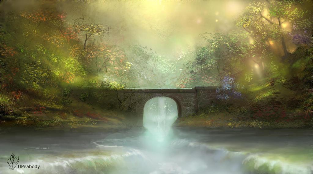 Bridge Over Falls by jjpeabody